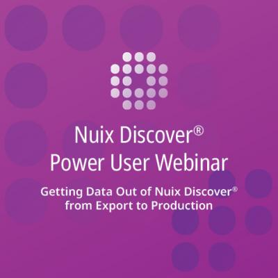Getting Data Out of Nuix Discover from Export to Production