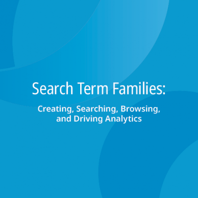 Search Term Families: Creating, Searching, Browsing, and Driving Analytics