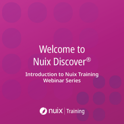 Welcome To Nuix Discover (part of Nuix Training Series)